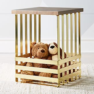 Wood bedside tables crate and barrel geometric gold side table watchthetrailerfo