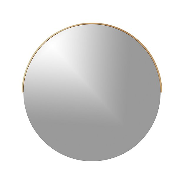 Gerald Large Round Wall Mirror Reviews Crate And Barrel