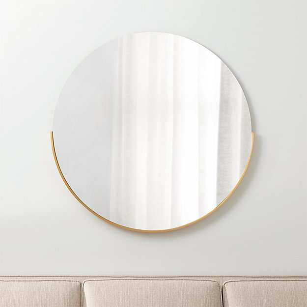Gerald large round wall mirror crate and barrel for Big circle mirror