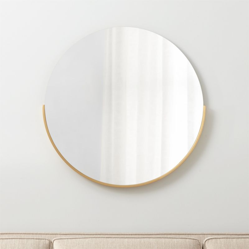 Bathroom Mirrors Crate And Barrel gerald large round wall mirror | crate and barrel