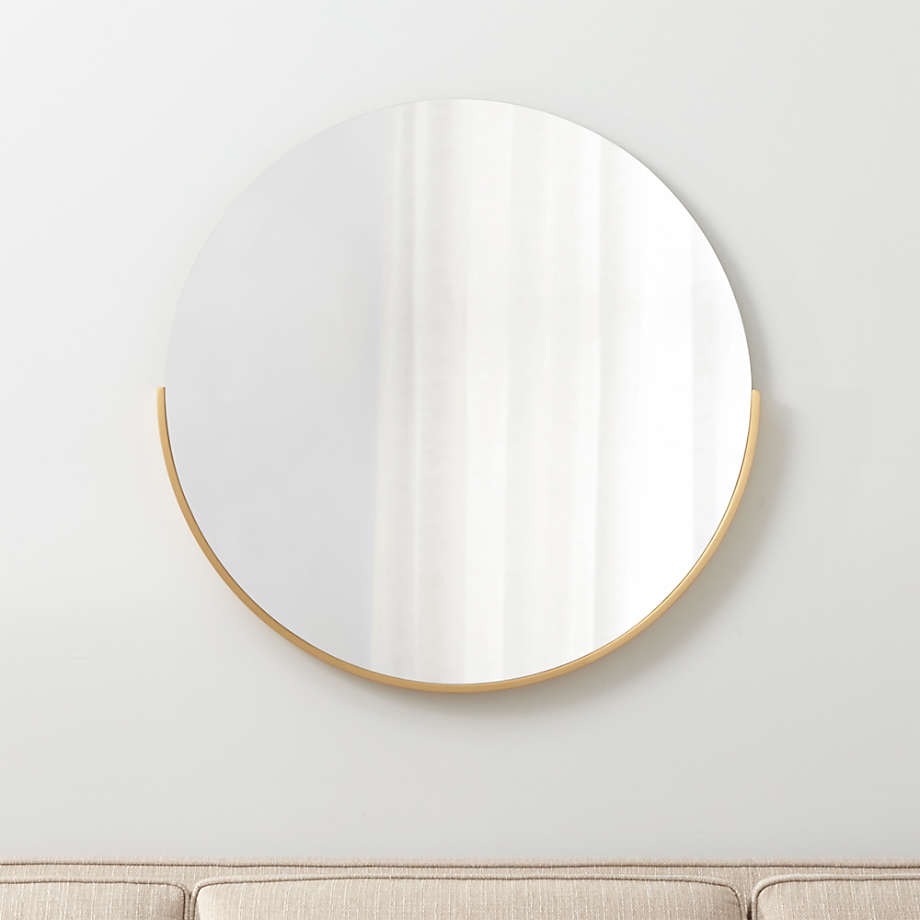 Gerald Small Round Gold Wall Mirror Reviews Crate And Barrel