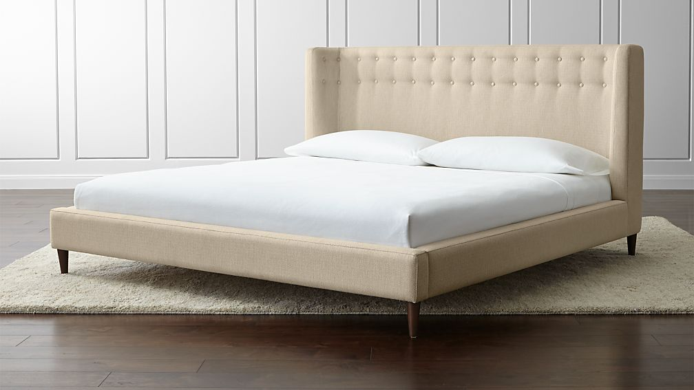Gia Upholstered California King Bed + Reviews | Crate and Barrel