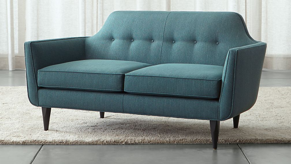 tufted blue product leather garden tuscon home overstock shipping free today loveseat