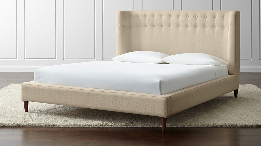 Gia Upholstered Queen Bed - Image 1 of 8
