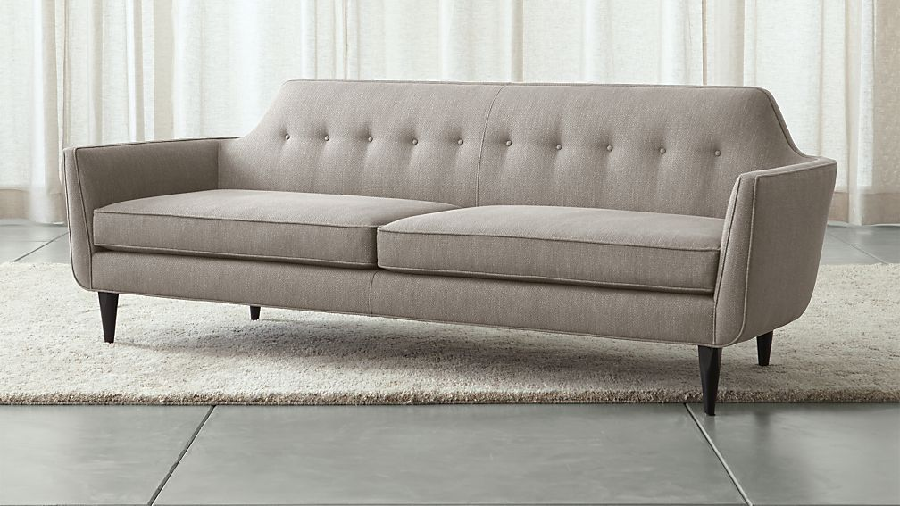 Gia Grey Tufted Sofa | Crate And Barrel