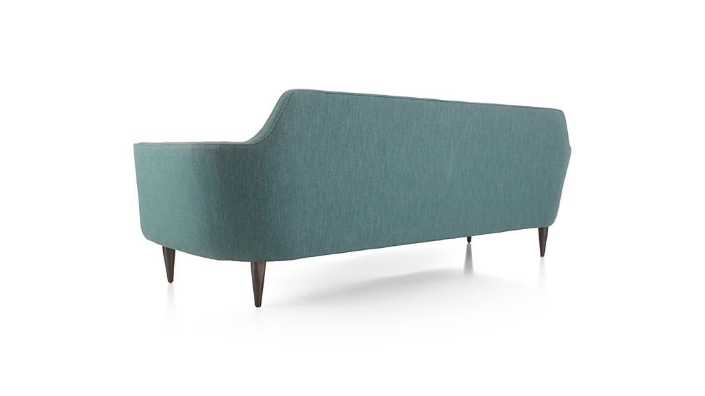 Gia Modern Blue Tufted Sofa In Sofas Reviews Crate And