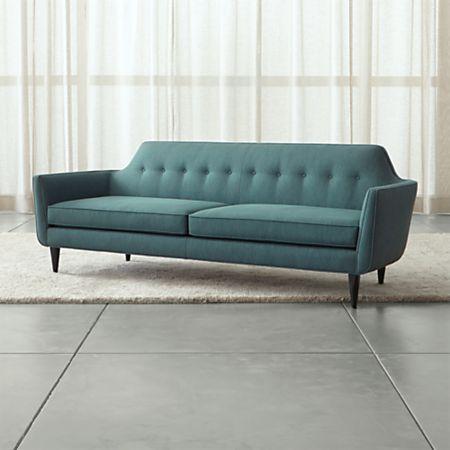 Gia Modern Blue Tufted Sofa Reviews