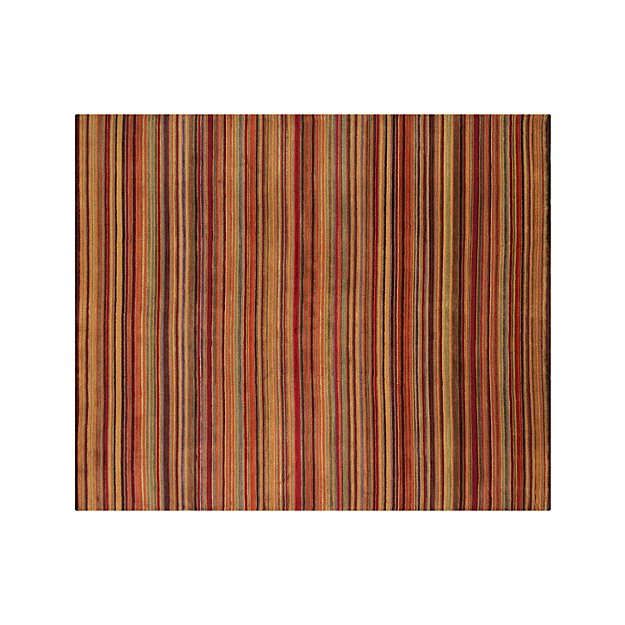 Gianni Rust Hand Knotted Wool 8'x10' Rug