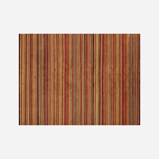 Gianni Rust Hand Knotted Wool 9'x12' Rug