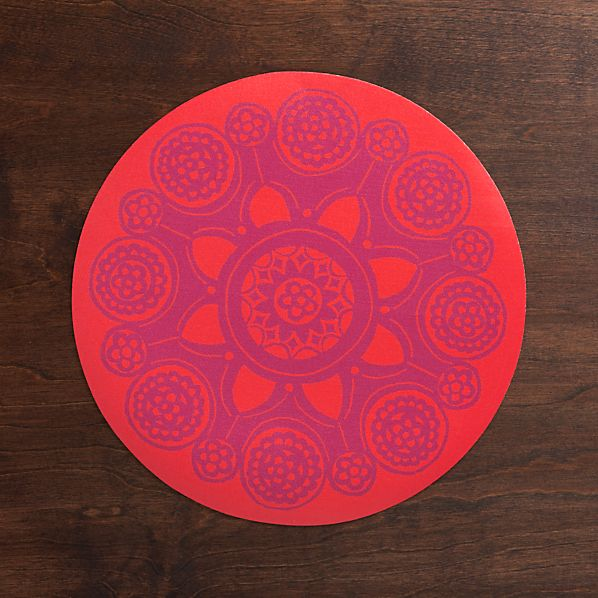 Giddy Red Placemat