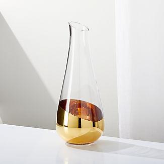 Gild Gold Dip Wine Carafe