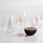 Gilded Trees Stemless Wine, Set of 4