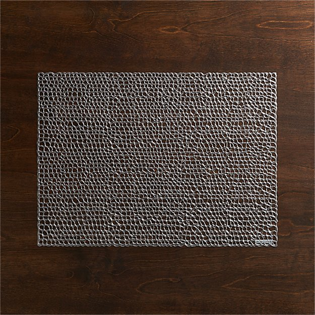 Chilewich Gilt Gunmetal Vinyl Placemat + Reviews | Crate and Barrel