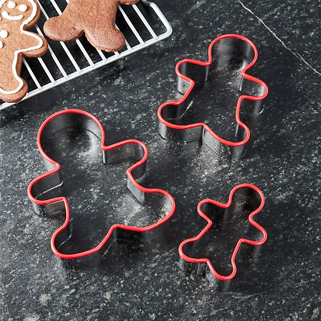 Gingerbread Red Cookie Cutter, Set of 3