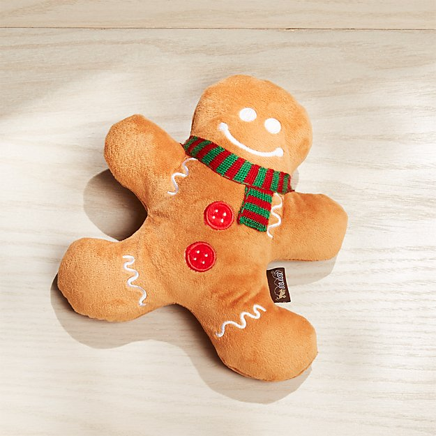 Gingerbread Man Dog Toy - Image 1 of 5