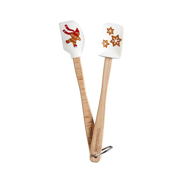2-Piece Mini Gingerbread Man Spatula Set