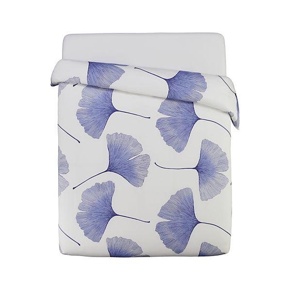 Marimekko Ginkgo Blue King Duvet Cover
