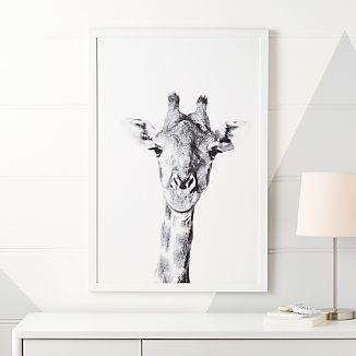 Giraffe Portrait Framed Wall Art
