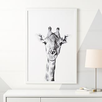 Giraffe Portrait Framed Wall Art Kids