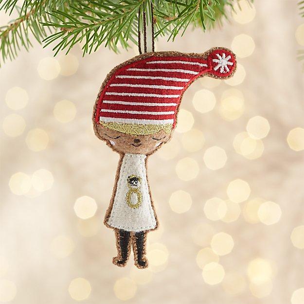 Girl Elf Ornament