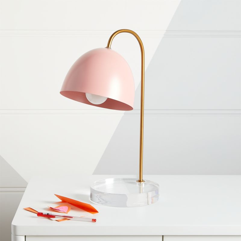 Glam Pink And Gold Table Lamp Reviews Crate And Barrel
