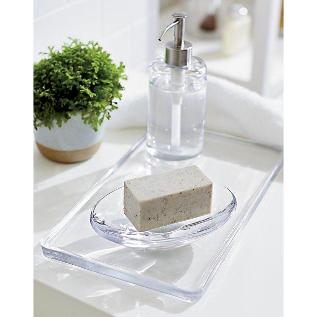 Glass vanity tray in bath accessories reviews crate - Crate and barrel bathroom vanities ...