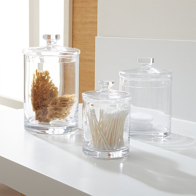 Set Of 3 Glass Canisters Reviews Crate And Barrel