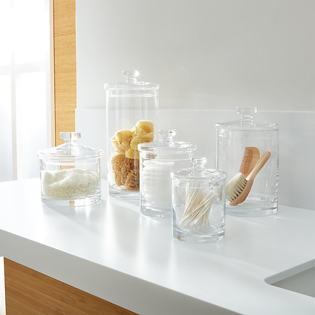 Glass Canisters - Image 1 of 12