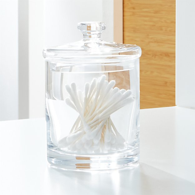 Small Glass Canister Reviews Crate And Barrel