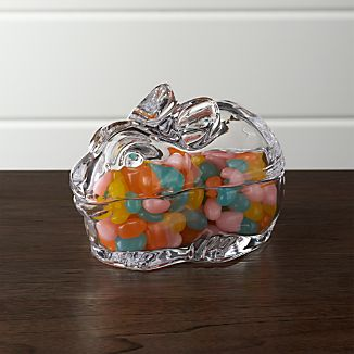 Small Glass Bunny Candy Dish