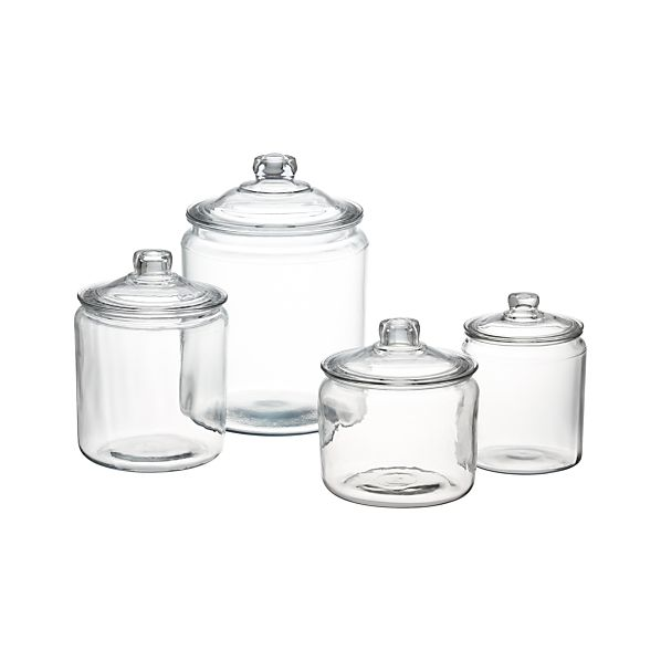 Heritage Hill Gl Jars With Lids