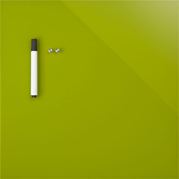 """Green Glass Magnetic 17.75"""" Wipe Board"""