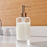 Brass Glass Soap Dispenser