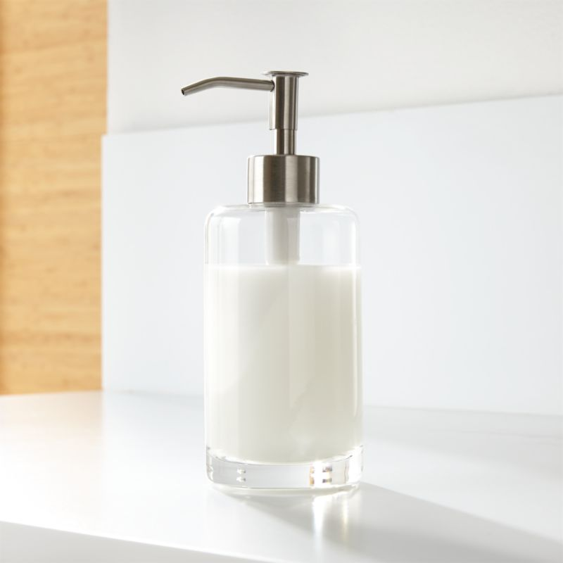 Silver glass soap dispenser in bath accessories reviews for Bathroom soap dispensers bath accessories