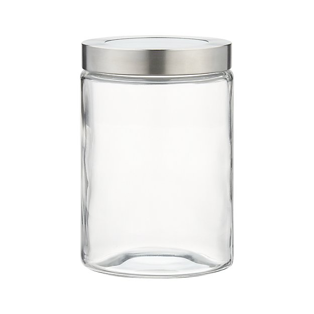 Small Glass Storage Canister with Stainless Steel Lid Reviews