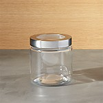 Extra Small Glass Storage Canister with Stainless Steel Lid