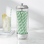 Glass Straw Dispenser with Straws