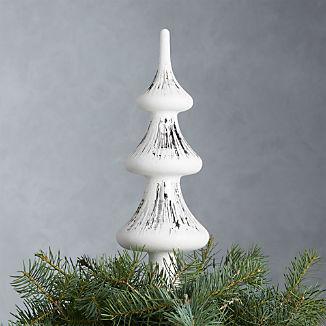 White Glass Tree Topper