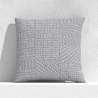 "Global Marks Grey 20"" Outdoor Pillow"