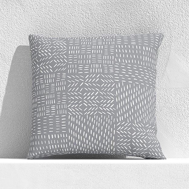 """Global Marks Grey 20"""" Outdoor Pillow - Image 1 of 3"""