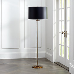 Gleam Crystal/Brass Black Shade Table Lamp in Table & Desk Lamps + ...