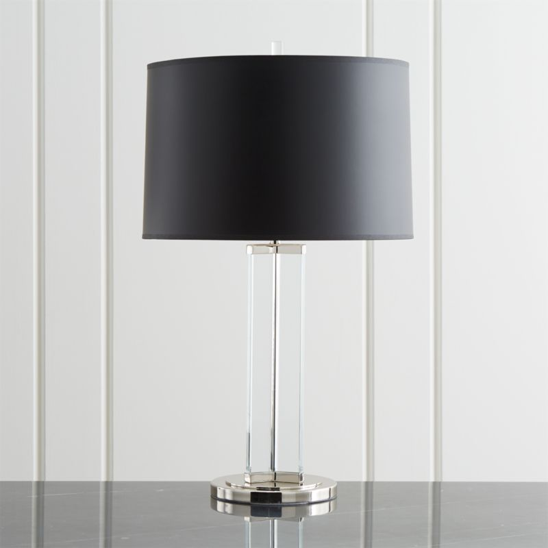Gleam Crystal Nickel Black Shade Table Lamp Reviews