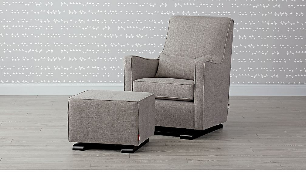 Luca Modern Glider and Ottoman - Image 1 of 5