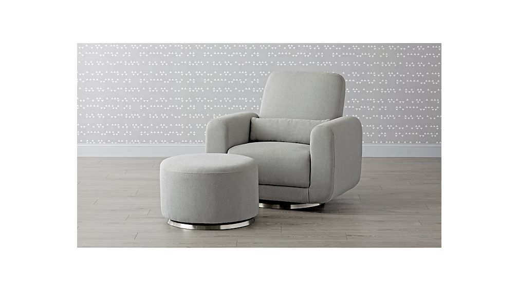 Babyletto Tuba Swivel Glider Chair And A Half + Reviews | Crate And Barrel
