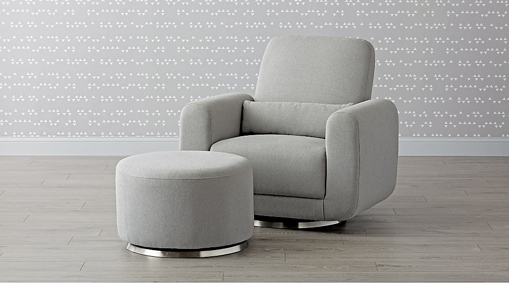 Babyletto Tuba Swivel Glider Chair And A Half And Ottoman
