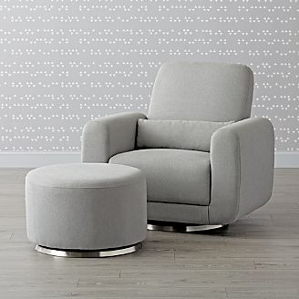 Babyletto Tuba Swivel Glider Chair And A Half Ottoman