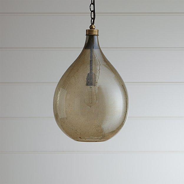 Glass teardrop pendant light reviews crate and barrel aloadofball Images