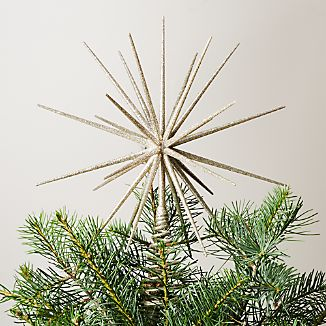 Glitter Silver Star Tree Topper