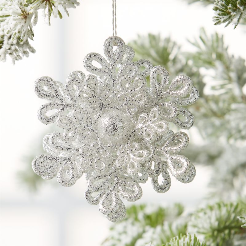 star snowflake christmas ornaments crate and barrel