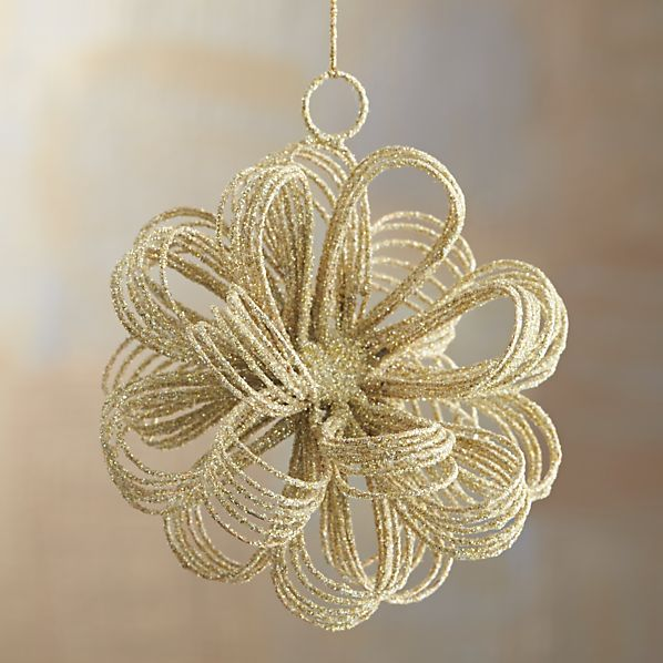 Gold Glitter Loop Burst Ornament